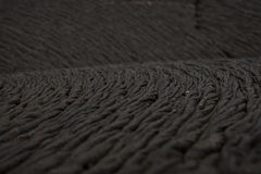 Rope detail from pahoehoe lava, Galapagos Royalty Free Stock Photos