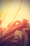 Rope details. Stock Photos