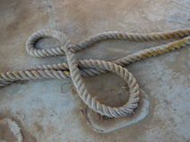 Rope. On a dock in San Pedro, California in the summertime Stock Photography