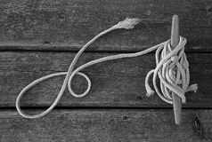 Rope and dock texture Stock Photo