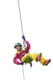 Rope downhill Stock Images