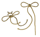 Rope elements with bows Royalty Free Stock Image