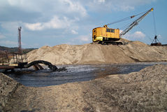 Rope excavator for mining sludge Stock Photography