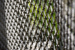 Rope fence. Close up of the weaving of a rope fence Stock Image
