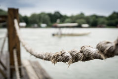 Rope fence Royalty Free Stock Photography
