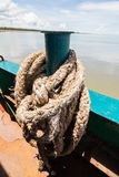 Rope ferry across the island Stock Image
