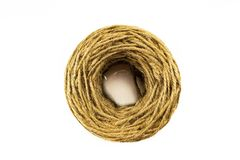 Rope of fiber coir isolated on white background. on top royalty free stock images
