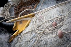 Rope and fishing net Royalty Free Stock Image