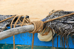Rope on fishing ship Stock Photos