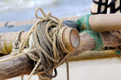 Rope on fishing ship Royalty Free Stock Images