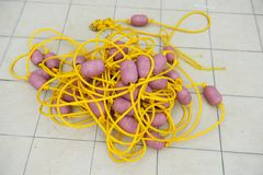 Rope and float Stock Image