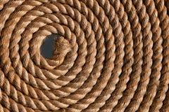 Rope folded helix Stock Photo