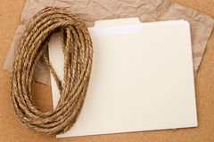Rope and Folder Royalty Free Stock Photography