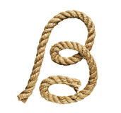 Rope forming letter B Stock Images