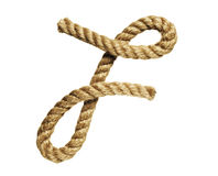 Rope forming letter F Stock Photos
