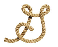 Rope forming letter G Royalty Free Stock Photos