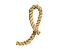 Rope forming letter I Stock Photos