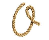 Rope forming letter O Royalty Free Stock Photography
