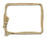 Rope frame royalty free stock photos