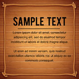 Rope Frame Border On Wood. Vector. Rope Frame Border On Wood. Marine Theme Vector Ready for Text and Design stock illustration