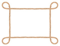 Rope frame isolated Stock Image