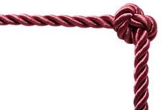 Rope frame isolated on white background Royalty Free Stock Photo