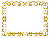 Rope frame isolated on white Royalty Free Stock Image