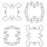 Rope frame, knots and corners. sling strong nautical. Vector. Stock Photos