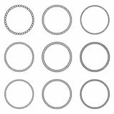 Rope Frame. Set Of Round Vector Frames From Nautical Rope. Round Marine Rope For Decoration Royalty Free Stock Photos