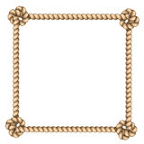 Rope frame. On white background. vector illustration Royalty Free Stock Photography