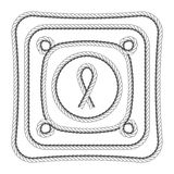 Rope frames square and round vector illustration