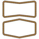 Rope Frames. A vector illustration of some Rope Frames royalty free illustration