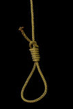 Rope with gallows knot Royalty Free Stock Images