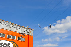 Rope gliders in old port, Montreal Stock Photos
