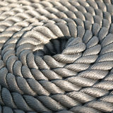 Rope. Great gray sailboat rope Royalty Free Stock Images