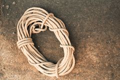 Rope on a ground Royalty Free Stock Image