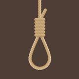 Rope hanging loop vector. Royalty Free Stock Photos