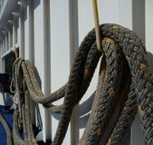 Rope. Hawser on a ship in Black Sea Royalty Free Stock Image