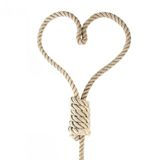 Rope-heart. A noose in the shape of heart isolated on white Royalty Free Stock Photo
