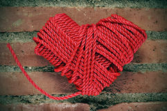 Rope heart Stock Images