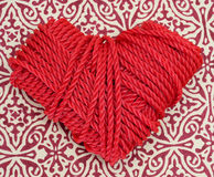 Rope heart Royalty Free Stock Images