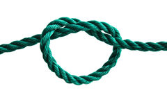 Rope with a heart shape knot Royalty Free Stock Photos