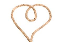 Rope Heart Shaped Symbol Royalty Free Stock Image