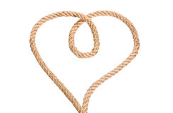 Rope heart shaped symbol Royalty Free Stock Image