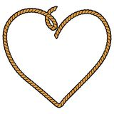 Rope Heart. A vector illustration of Rope Heart Royalty Free Stock Photos