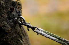 Rope and hook Stock Photo