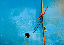 Rope Hull Fishing Boat Royalty Free Stock Images