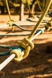 Rope il parco nel parco - nodo della corda Fotografia Stock Libera da Diritti