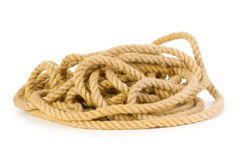 Rope isolated. On the white background Royalty Free Stock Photos