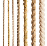 Rope isolated. Collection of different ropes on white background Royalty Free Stock Photos